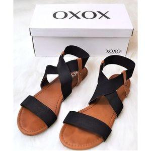 XOXO Flat Strappy Sandal